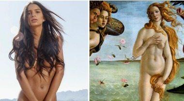 Emily Ratajkowski nuda manda i fan in tilt: sembra la Venere di Botticelli