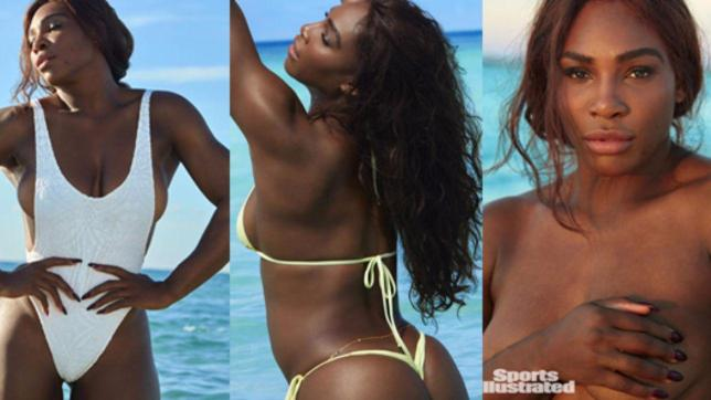Serena Williams tra top. less e bik. ini minimal