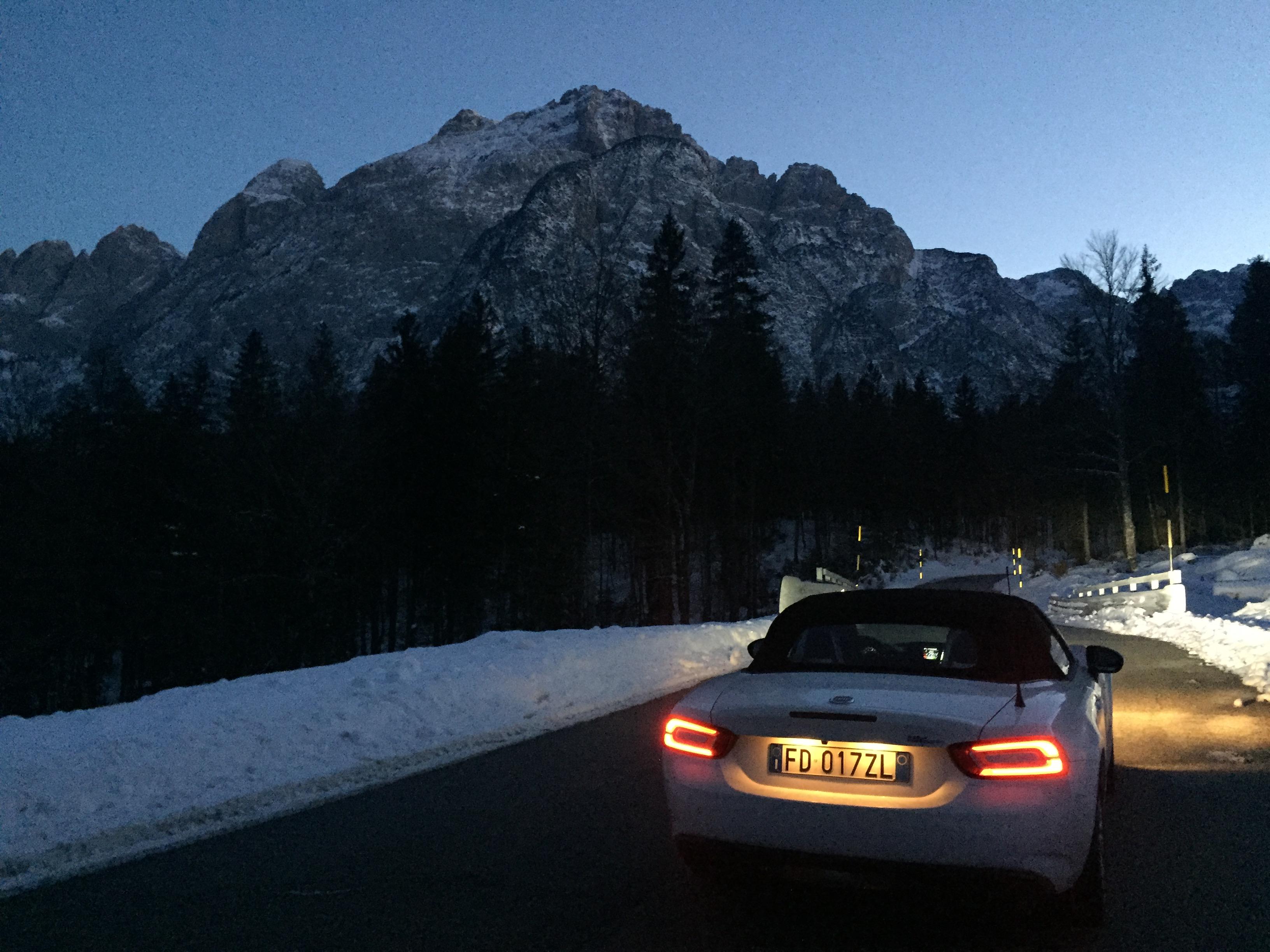 #124Spider tra la neve della montagna friulana #charlieinauto 2.p