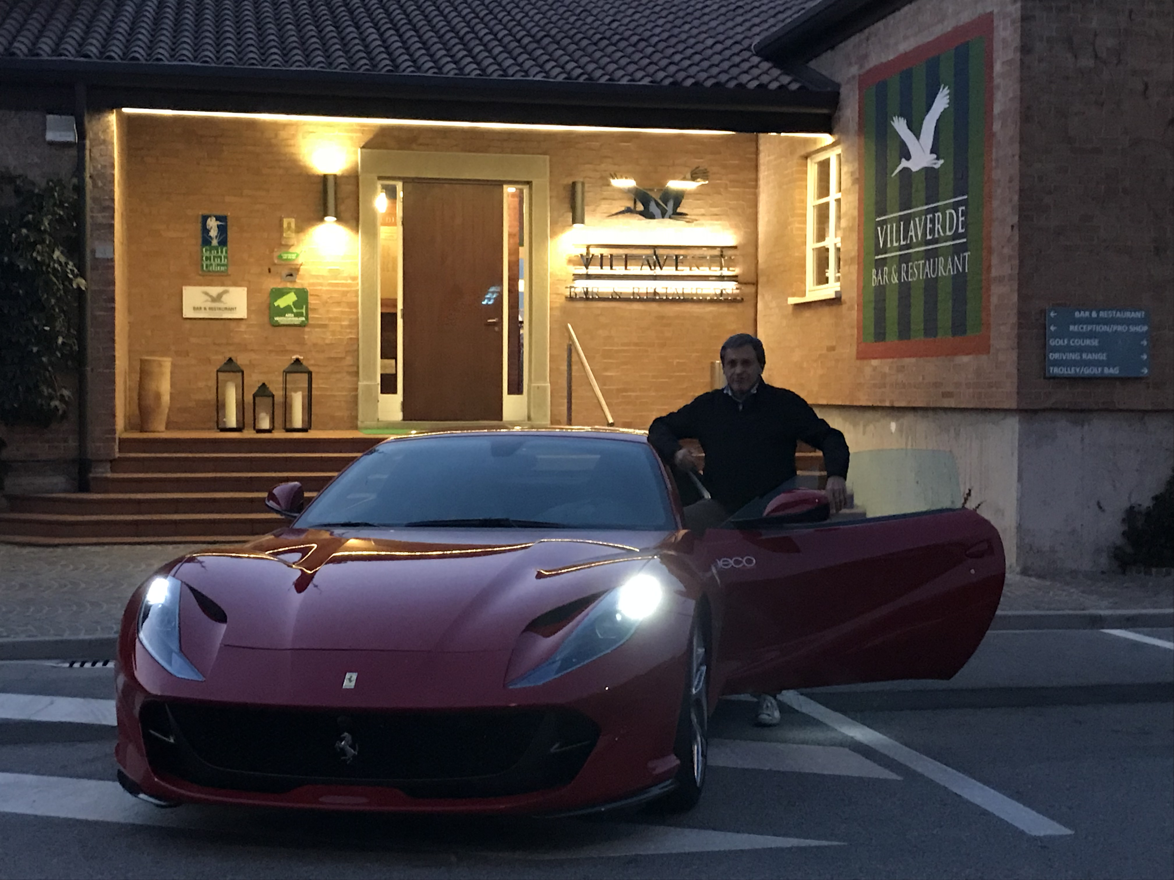 #charlieinauto #testdrive #GolfclubVillaverde Fagagna con la #Ferrari #F812Superfast