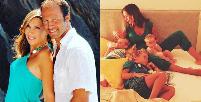 Veronica Maya, ritorno dalla luna di miele col marito e i tre figli