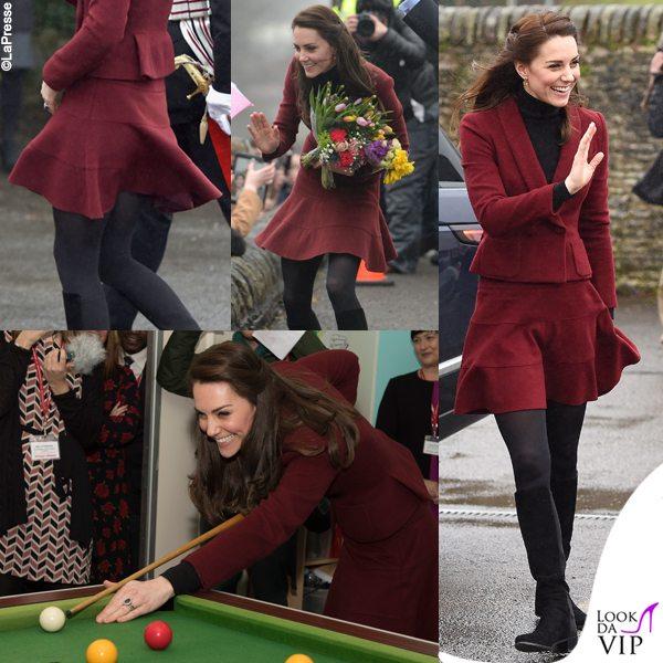 Kate Middleton, gonna corta e vento birichino