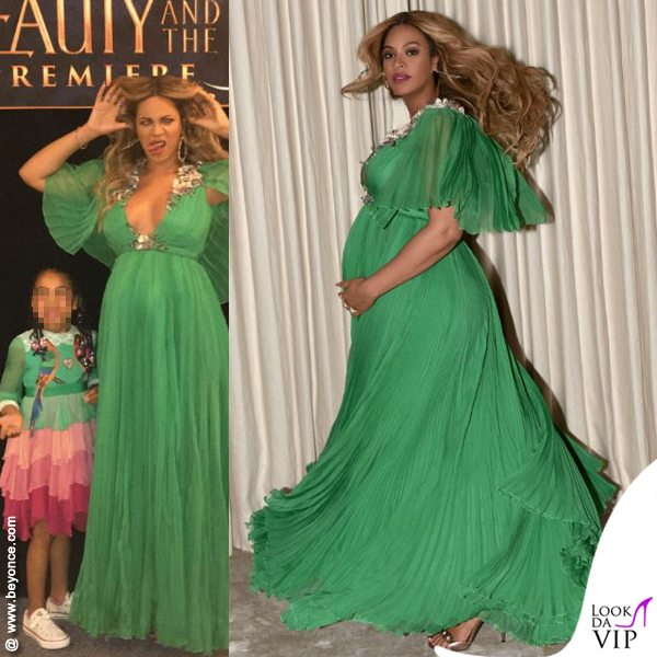 Beyoncé luxury, tripudio di chiffon in Gucci