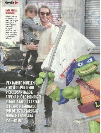 Stefano De Martino tra l'addio alla fidanzata e il ritorno con Belen: passeggiata con Santiago a Milano