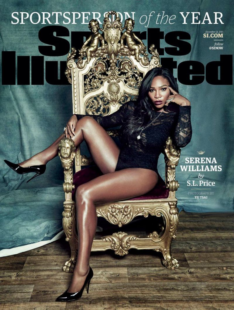 Serena Williams h. ot, in to. ple. ss per Sports Illustrated