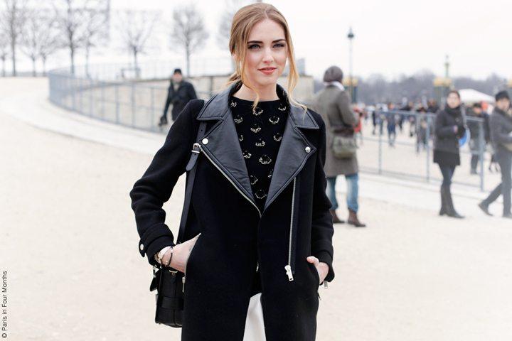 Chiara Ferragni alla fashion week di Parigi, se.no piercing in mostra su instagram