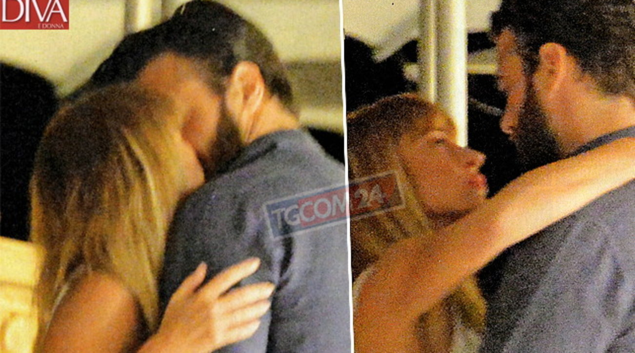 Maria Elena Boschi e Giulio Berruti mano nella mano e che baci!