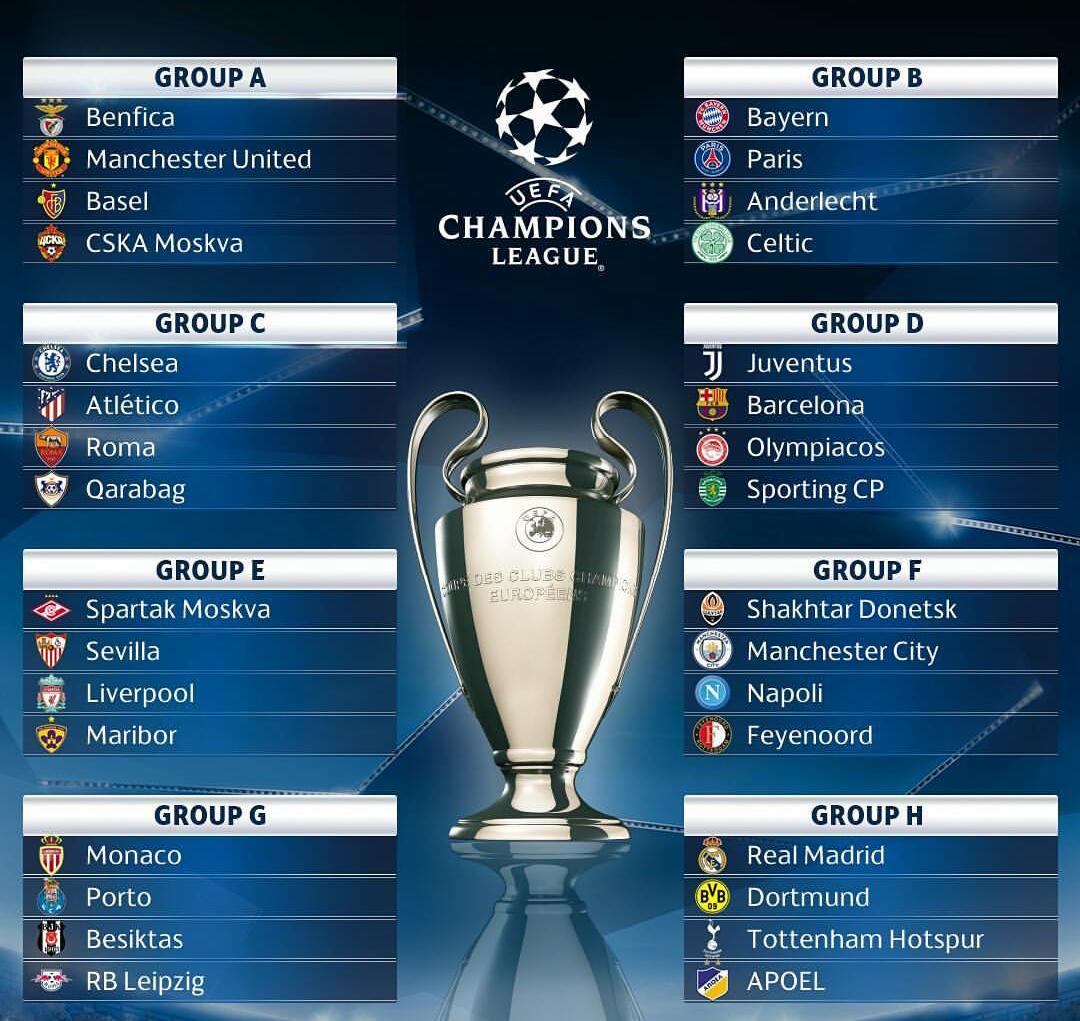 UEFA CHAMPIONS LEAGUE 2017-2018 SCHEDULE