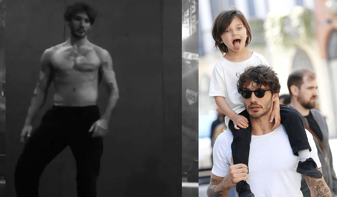Belen con Santiago in moto senza casco, papà Stefano invece ...