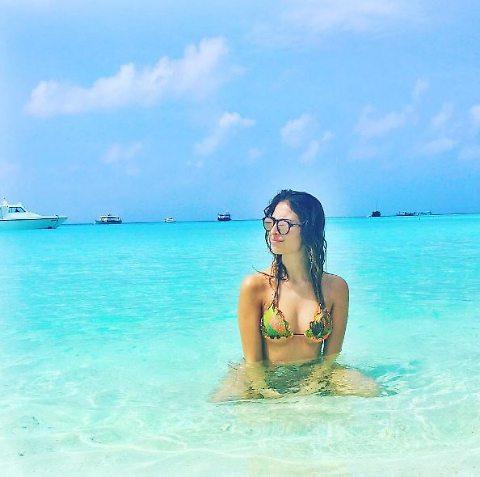 Valentina Allegri, la figlia di Max in vacanza alle Maldive.