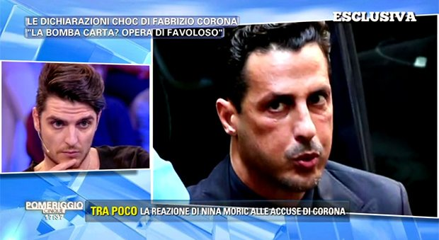 Corona accusa il fidanzato di Nina Moric lui risponde così in diretta dalla D'Urso